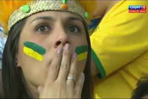 Бразилия уступила Германии со счетом 1:7 (Футбол. ЧМ-2014)