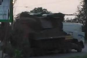 Глава МВД Украины обнародовал видео: киевская хунта вывозит «Бук» из Красноармейска